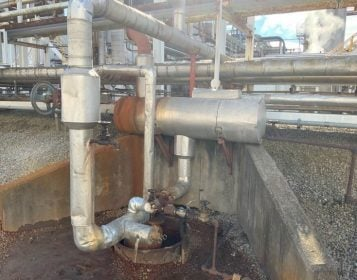 Before – Condensate Recovery Skid